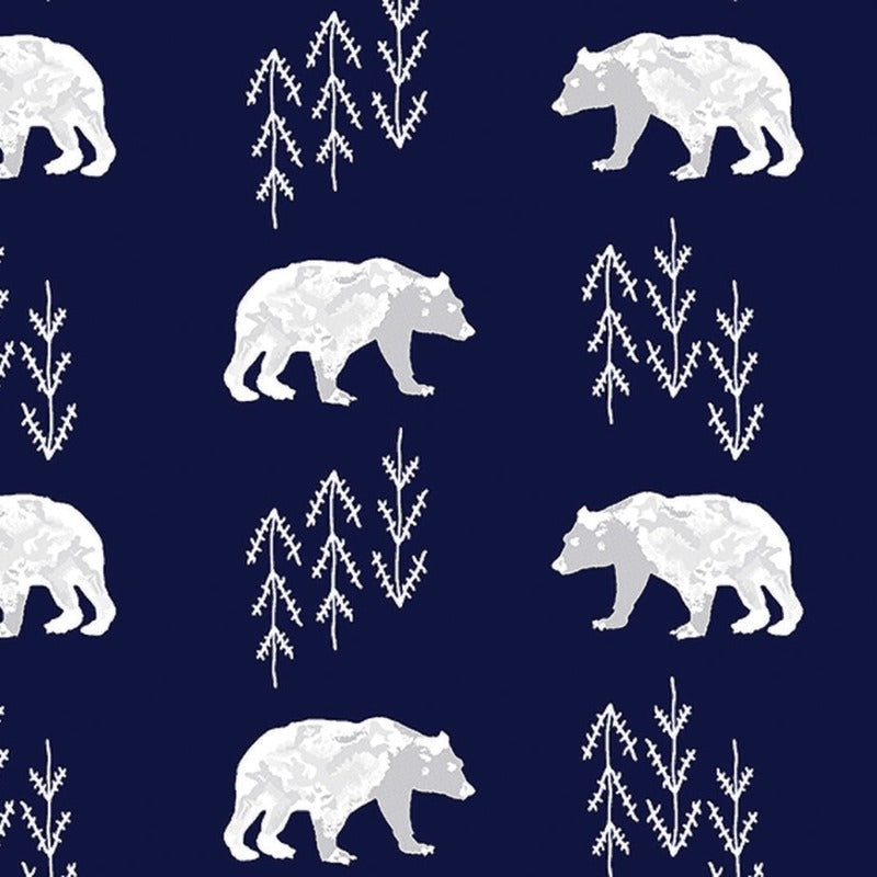 Cuddle Bearfoot Navy Fabric