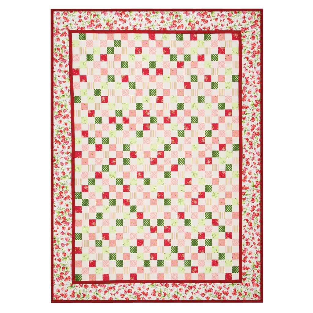 Sweet Pea Flannel Patchwork Quilt Top Kit