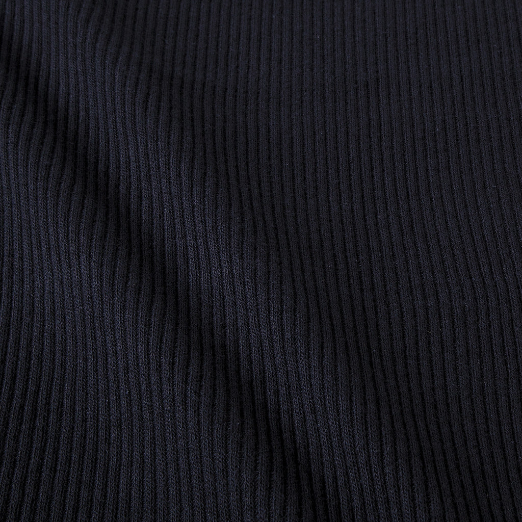 Black Rib Knit Fabric
