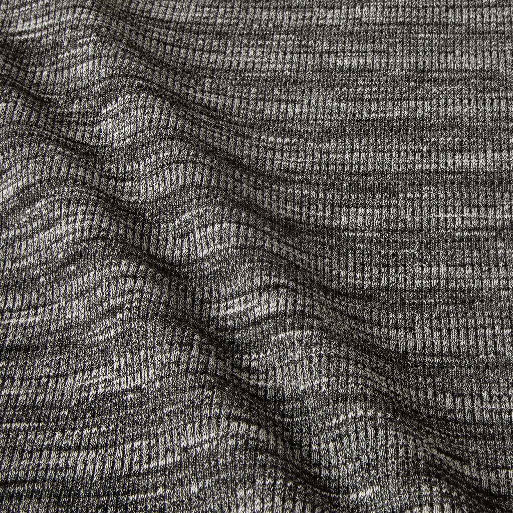 Heather Grey Rib Knit Fabric