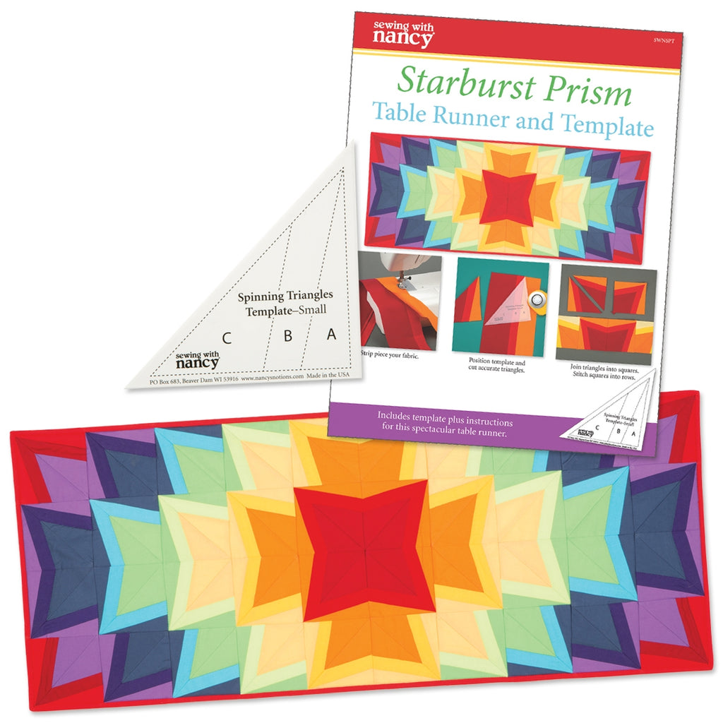 Starburst Prism Template and Pattern with Free Table Runner Pattern