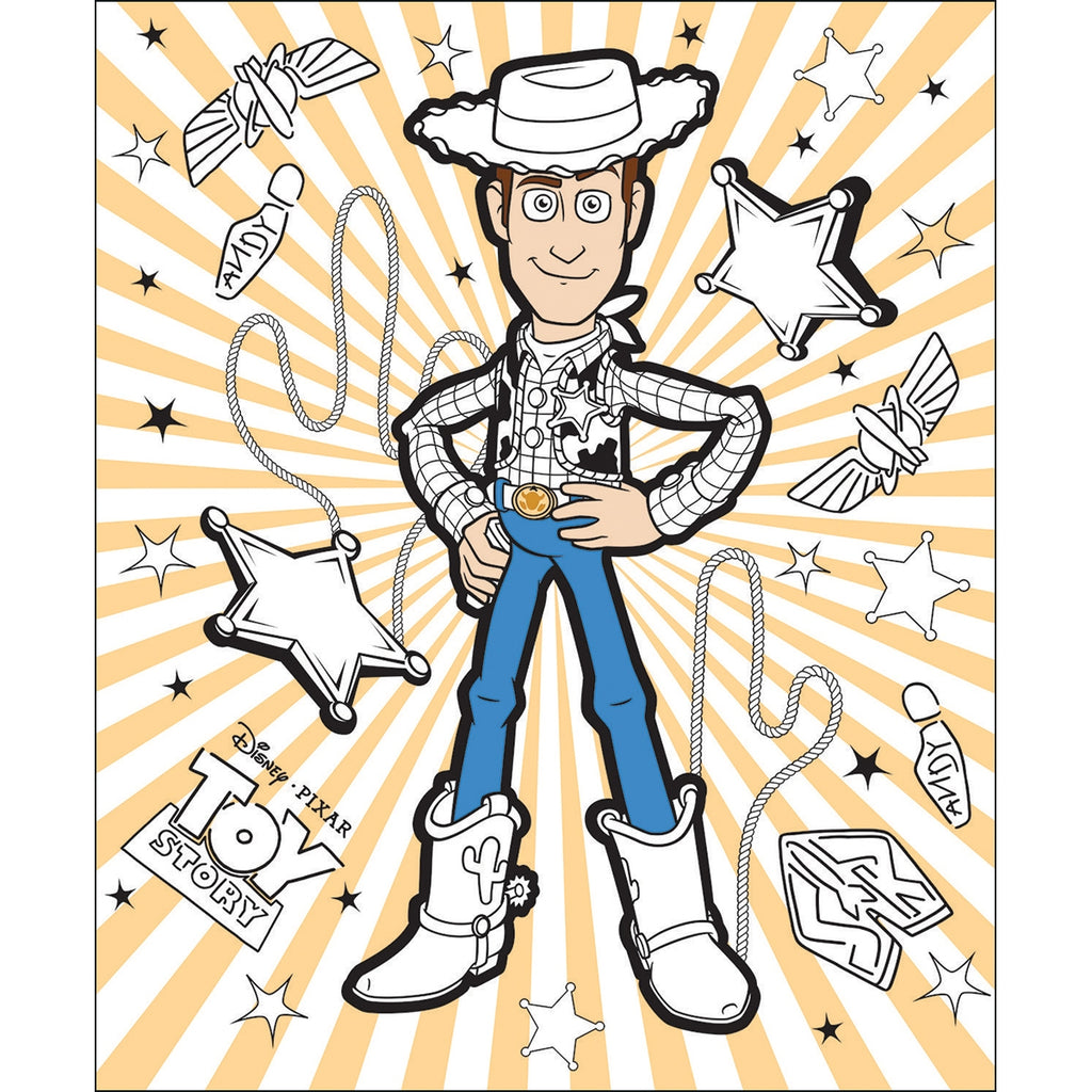 Toy Story Coloring Fabric Panel