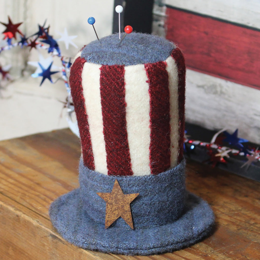 Uncle Sam Hat Pincushion Pattern and Stars