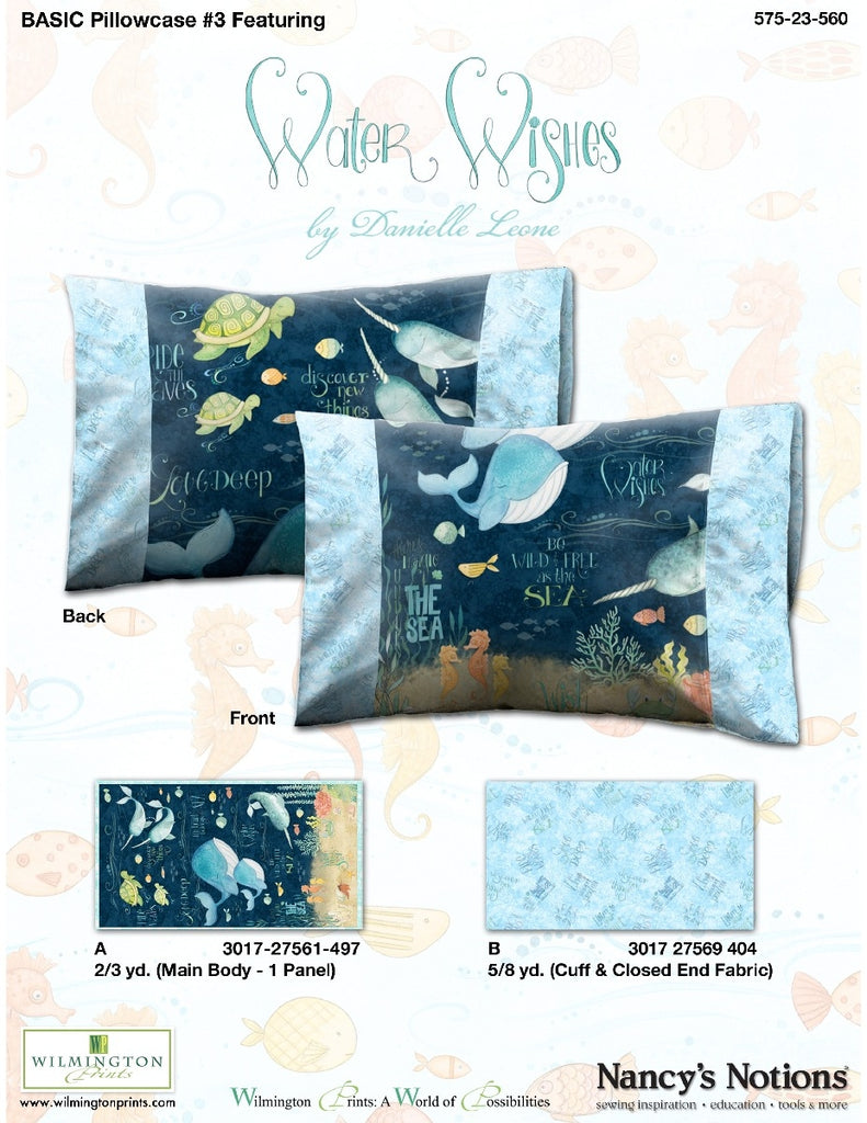 Wilmington Prints Water Wishes Soft Book and Pillowcase Kit
