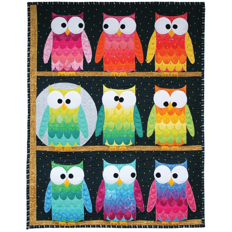 Hootsville Row Quilt & Pillow Kit