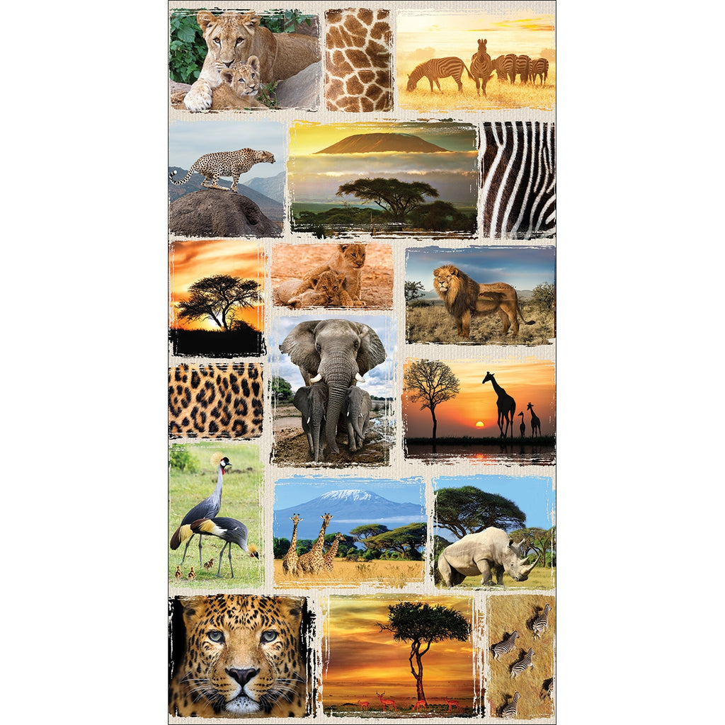 Wild Kingdom Savannah Fabric Panel
