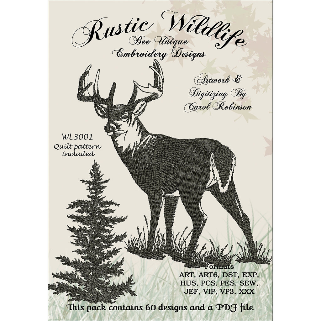 Rustic Wildlife Embroidery Designs