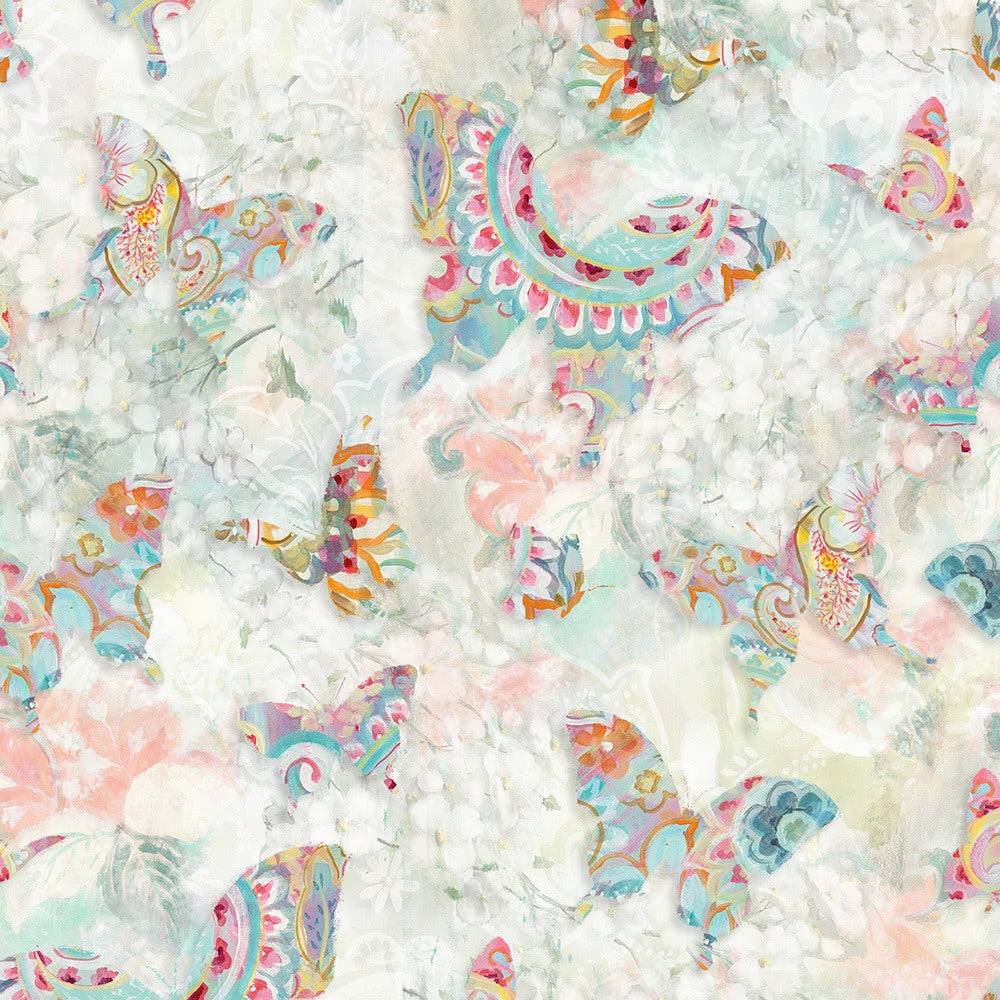 Wilmington Prints, Wild Blush Butterflies Fabric