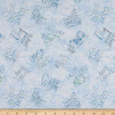Water Wishes Words Fabric