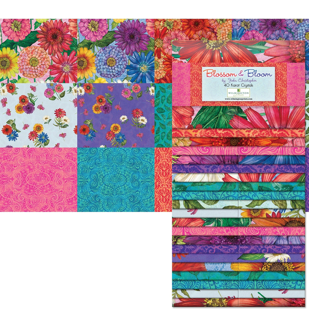 Blossom and Bloom 2 1/2 Inch Fabric Strips