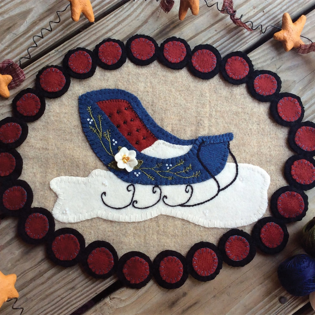 Wooly Winter Sleigh Candle Mat Kit
