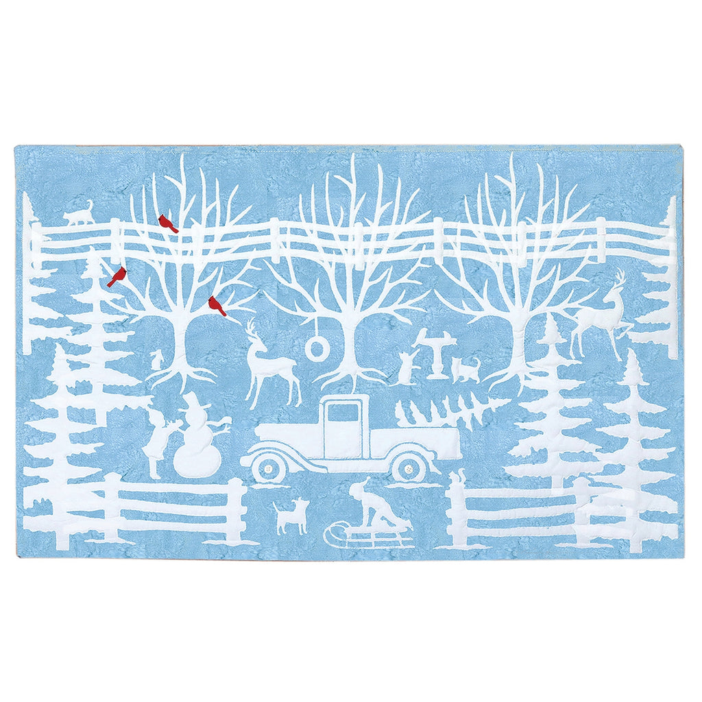 Winter in Wedgewood Wall Hanging Kit
