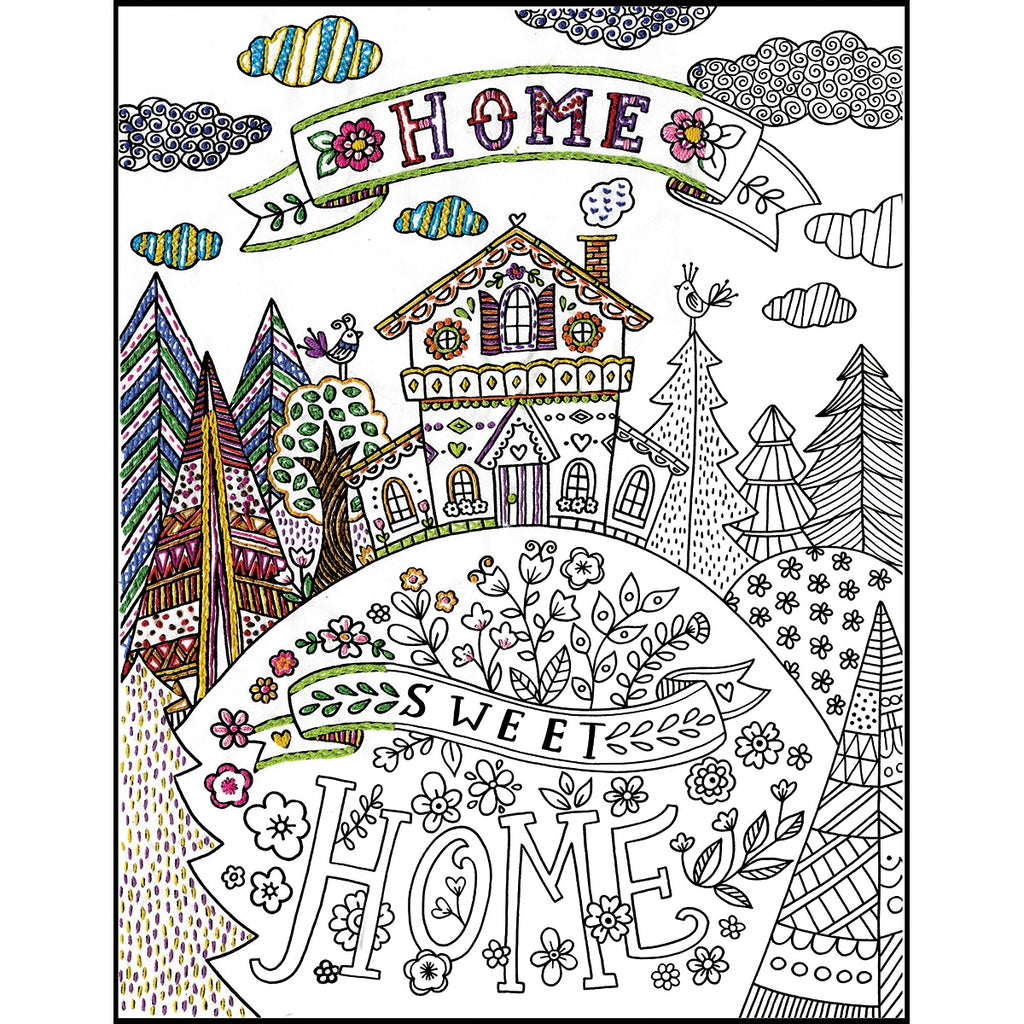 Zenbroidery Home Sweet Home and Floss