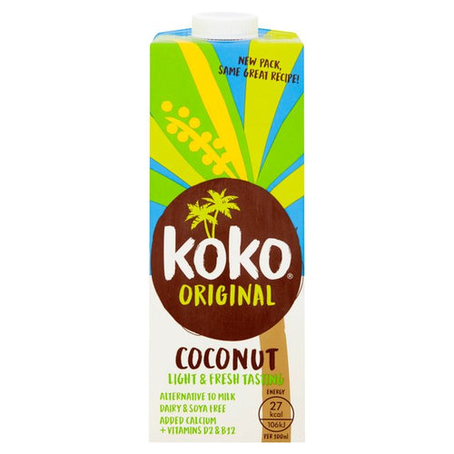 Koko Coconut Milk Original + Calcium 6 x 1ltr
