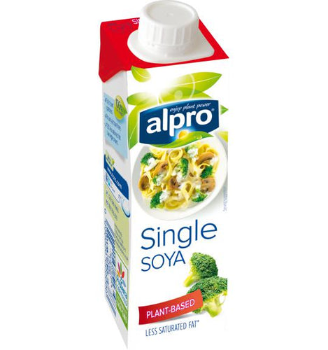 Alpro Soya UHT Single Cream 15 x 250ml