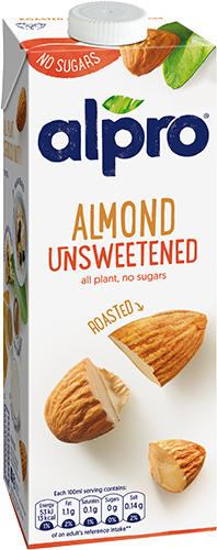 Alpro Almond Unsweetened Natural Drink 8 x 1ltr