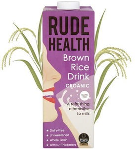 Rude Health Brown Rice Drink Organic 6 x 1ltr