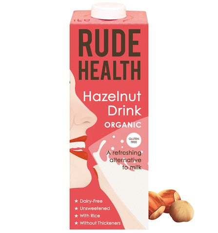 Rude Health Hazelnut Drink Organic 6 x 1ltr