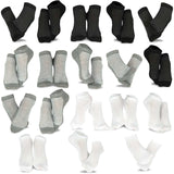 TeeHee Socks Women's Casual Polyester No Show Black/Grey/White 18-Pack (10051)
