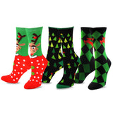 TeeHee Socks Women's Christmas Polyester Crew Assorted 3-Pack (10426)