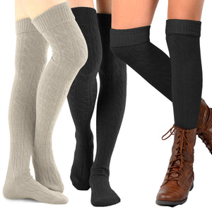 Fashion Over the Knee High Socks - 3 Pair Brite - TeeHee Socks