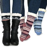 TeeHee Socks Women's Double Layered Polyester Crew Assorted 3-Pack (11971)