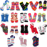 TeeHee Socks Women's Casual Polyester No Show Love Peace 18-Pack (12062)