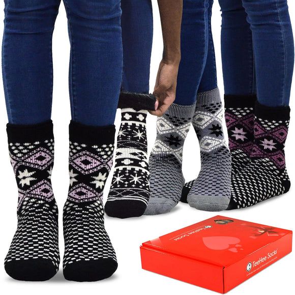 Women's Snow Flake 4-pack - TeeHee Socks
