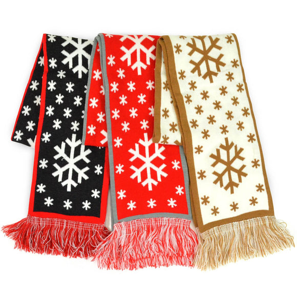 Winter Unisex Double Layer Scarves 3-Pack (Winter-1) - TeeHee Socks