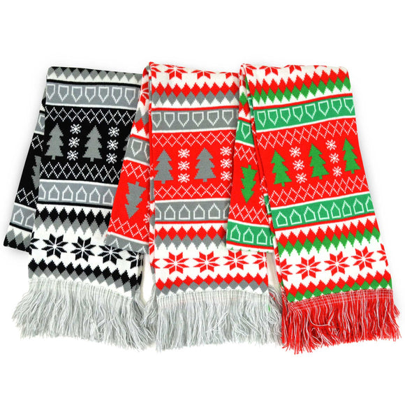 Winter Unisex Double Layer Scarves 3-Pack (Winter-2) - TeeHee Socks