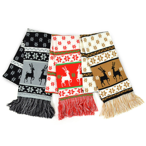 Winter Unisex Double Layer Scarves 3-Pack (Winter-3)
