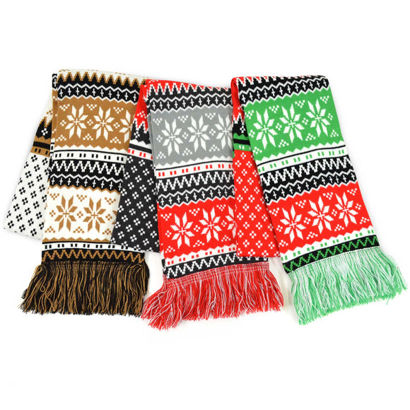 Winter Unisex Double Layer Scarves 3-Pack (Winter-4) - TeeHee Socks