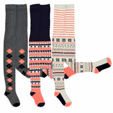 TeeHee Kids Girls Fashion Cotton Tights 3 Pair Pack (Argyle) - TeeHee Socks