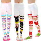 TeeHee Kids Girls Fashion Cotton Tights 3 Pair Pack (Colorful) - TeeHee Socks