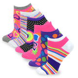TeeHee Socks Women's Causal Polyester No Show Assorted 6-Pack (3103)