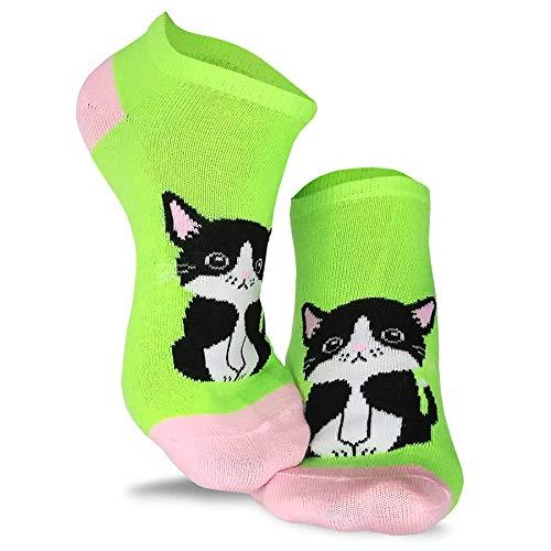 Women's Casual and Novelty No Show Low Cut Socks 6-Pack (Pet)… - TeeHee Socks