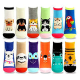 Women's Fashion No Show/Low cut Fun Socks 12 Pairs Packs (Pet-Animal)??????? - TeeHee Socks