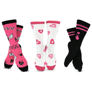 TeeHee Valentine's Day Women's Cotton Crew 3-Pack (H2015)