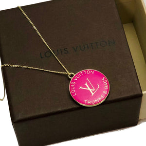 Fabulous LV Pull in Various Colors - Trunks and Bags Charm Used as Pendant - Hot Pink