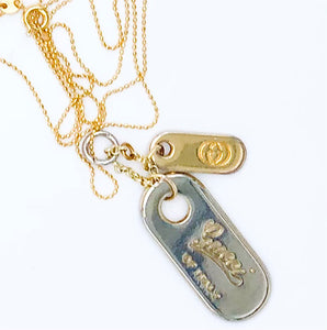 Super Chic Vintage Gucci Pulls - Dog Tag Set - Or Singles