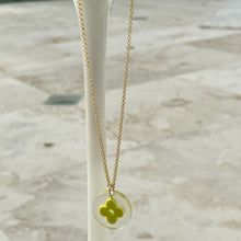 Load image into Gallery viewer, Green Rounded Fleur Logo Mini Charm Pendant