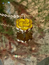 Load image into Gallery viewer, Classic Camellia Flower Micro Chanel Charm Necklace - Yellow