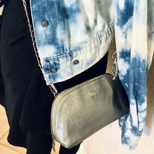 Load image into Gallery viewer, Chic Silver Leather Vintage Chanel Pouch/Crossbody/Bum Bag