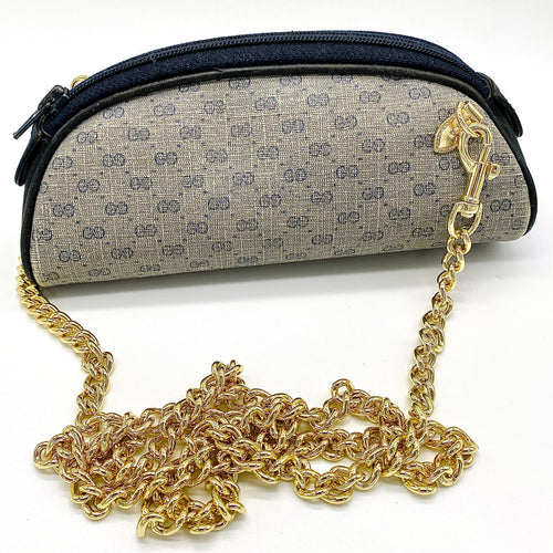 Vintage Navy micro GG Supreme Gucci Mini Crossbody/Bum Bag + 2 STRAPS!
