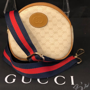 Vintage Beige GG Supreme Gucci Micro Dome Crossbody Bum Bag Shoulder Bag