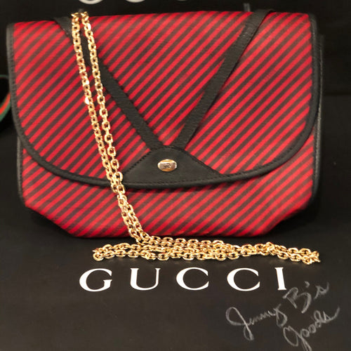Gucci blue and red crossbody