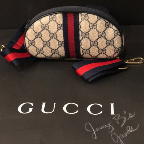 Classic GG Supreme Navy Web Gucci Crossbody/Shoulder/Bumbag