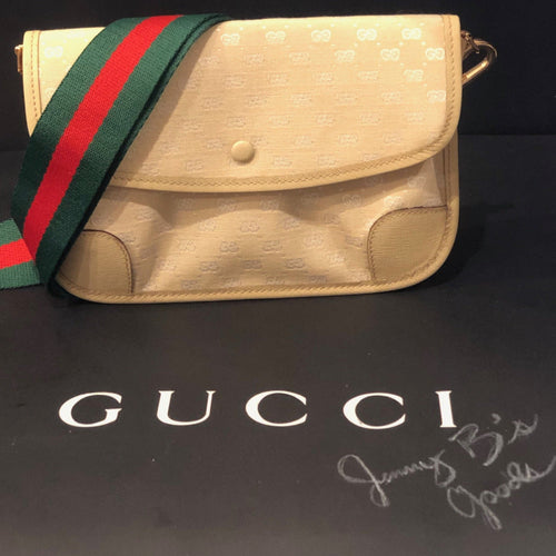 SOLD Vintage Beige GG Supreme Gucci Mini Crossbody Bum Bag Shoulder Bag