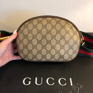 SOLD Vintage GG Supreme Convertible Gucci Logo Clutch, Crossbody, Bum Bag, Shoulder Bag