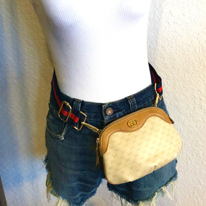 Vintage Beige GG Supreme Gucci Logo Pouch Mini Crossbody Bum Bag Shoulder Bag
